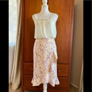 Anthropologie floral skirt size 6 NWT